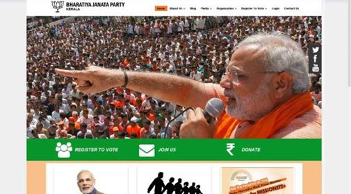 Kerala bjp official site tektide innovations for V muraleedharan bjp